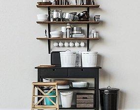 3D tea Kitchen decor set