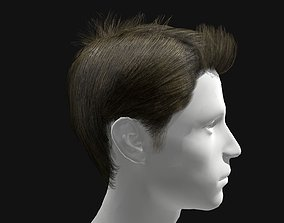 realtime 3D Hair Male Spiky Hairstyles