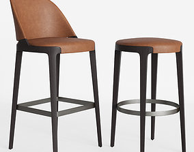 Potocco Velis barstool Round counterstool 3D model