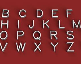 SIMPLEX font 3D Letters STL FILE