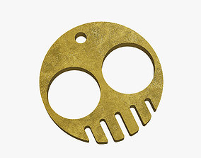 Brass knuckles smile 3D printable model