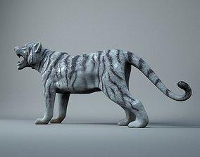 White Tiger Toy 3D model