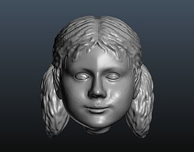 Girl head - woman head 9 3D printable model