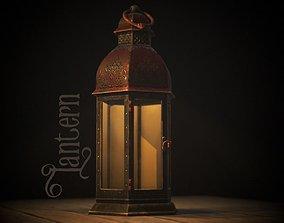 Christmas Lantern 3D asset low-poly