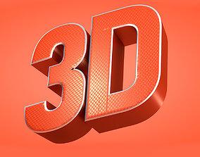 3D Title cinema4d