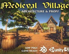 Medieval Village Pack 3D model game-ready