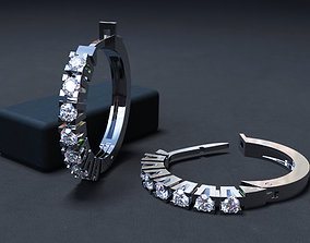 fashion earrings with diamonds 3D print model
