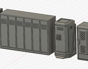 Sci-fi wargame lockers 3D print model