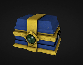 3D model Low Poly Treasure Chest ready for UE4