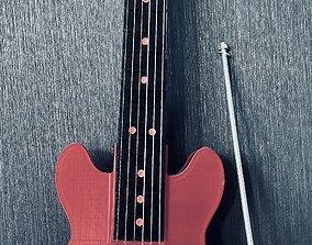 Guitare acoustique archtop 3D print model