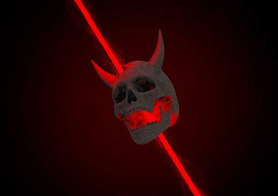 Laser Demon Skull