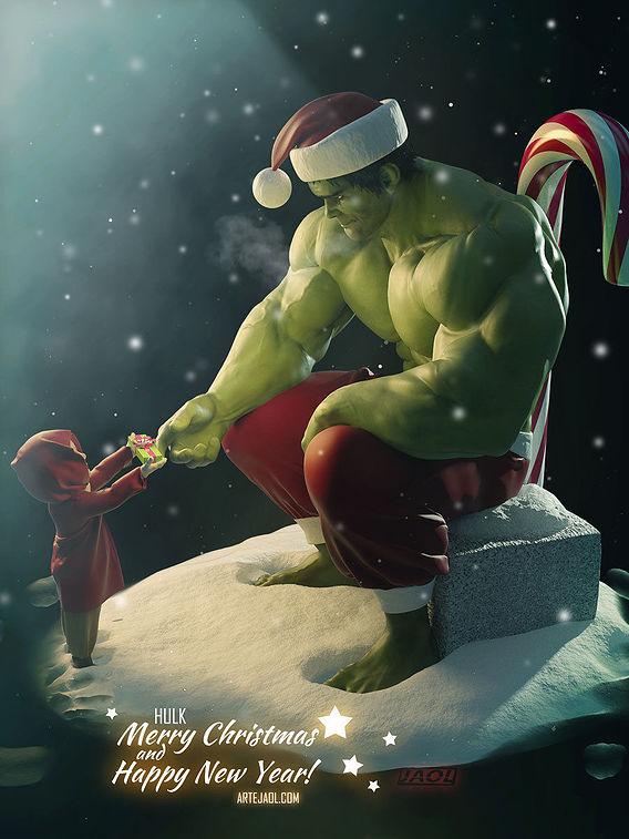 Hulk on Christmas
