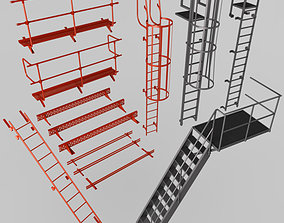 Fire Escape Stairs 3D