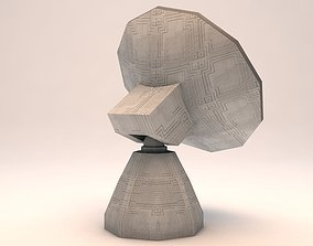 Satelitte Observatory Dish Low Poly 3D asset