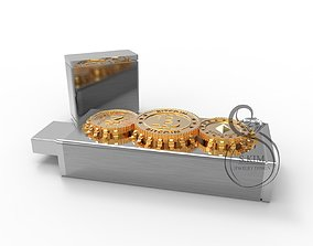 3D printable model USB flash case bitcoin