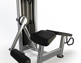 Gym Horizontal Legs Press 3D