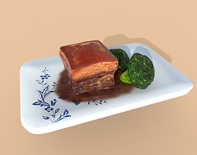 3D model Asia food Dongpo Fang meat
