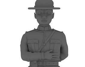 3D printable model Policeman Statue