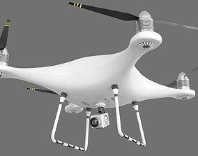 3D asset low-poly PBR Drone