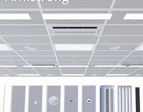 Ceiling system Armstrong 3D asset low-poly