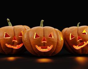 horror 3D model Jack-O-Lantern - Halloween Pumpkin