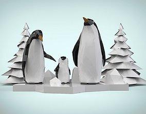 Pinguin Family 3D model