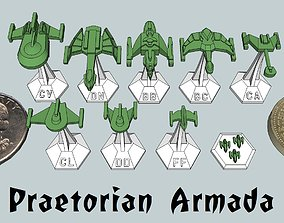 3D print model MicroFleet Praetorian Armada Starship Pack
