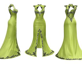 3D asset Cheongsam Mermaid Tail Evening Dress
