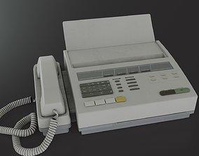 3D asset Old Dirty Fax Machine