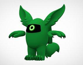 3D asset Among Us Green Werewolf