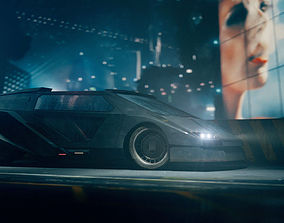 Retro Future Car 3D