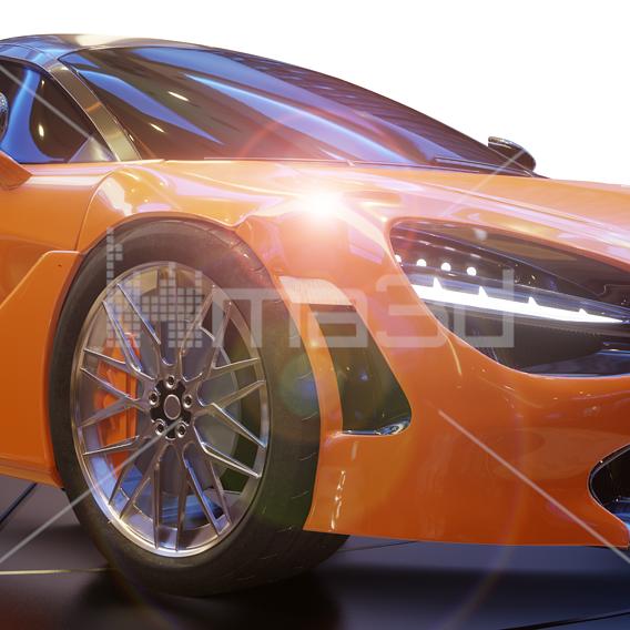 Car realistic rendering