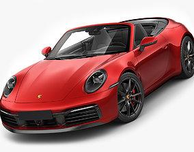 3D model Porsche 911 992 Cabriolet 2019