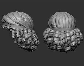 Hair stylized 3 3D print model
