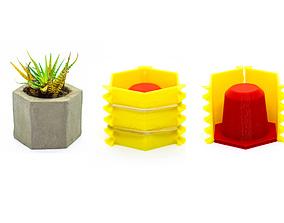 hobby-diy 3D printable model 8 Concrete Pot Mold