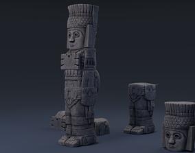 3D asset Atlantean Column