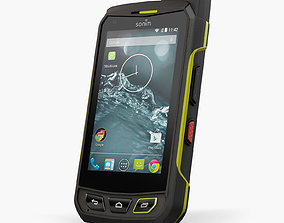 Sonim XP7 rugged and proof smartphone 3D asset