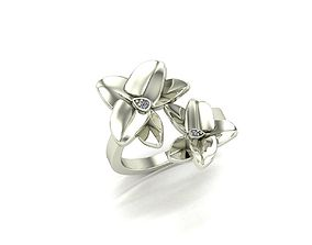 Flower ring inspired by Colombian orchids 3D print model