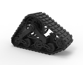 Diecast Mattracks Suspension track 3D print model