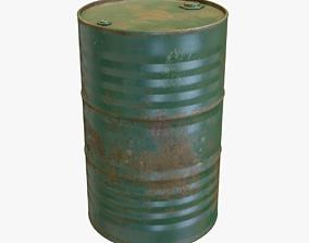 Green Oil Drum 3D model