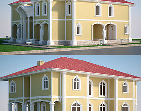 Luxury Villa Set 3D model