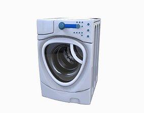Washing machine 3D asset low-poly