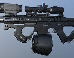 3D model AR-15 Low Poly