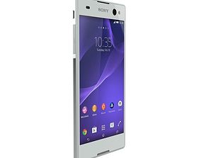 SONY XPERIA C3 GSM PHONE DUAL SIM WHITE 3D model