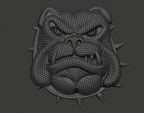 3D print model Cartoon Angry Bulldog with Pave