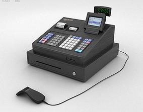3D Cash Register Black