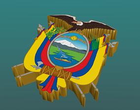 3D Coat of Arms of Ecuador in Blender Blender Cycles 3