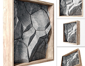 Stone wall frame 3D