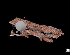3D Houdini Brick Destruction Asset