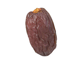 Photorealistic Medjool Date 3D Scan fruit
